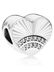 Charm -Fan der Liebe- Pandora Silberfarben