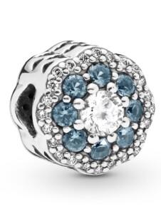 Charm -Funkelnde Blume- Pandora Silberfarben