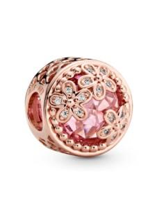 Charm-funkelnde Gänseblümchen- Pandora Rosé