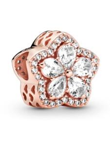 Charm -funkelnde Schneeflocke Pandora Rosé