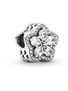 Charm -funkelnde Schneeflocke Pandora Silberfarben