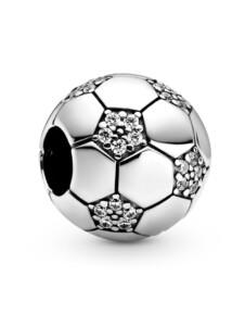 Charm-funkelnder Fussball- Pandora Silberfarben