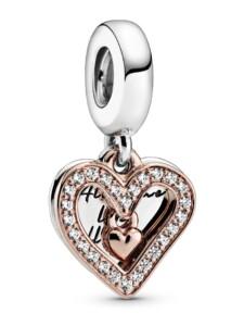 Charm -funkelndes Herz- Pandora Rosé