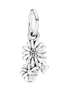 Charm-Gänseblumenstrauß- Pandora Silberfarben