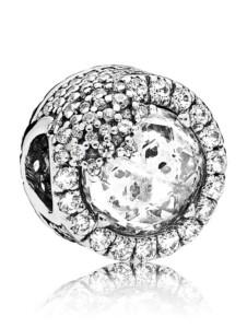 Charm Glanzvolle Schneeflocke Pandora Weiß