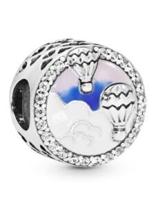 Charm -Heißluftballonfahrt- Pandora Silberfarben