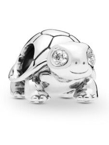 Charm -Helläugige Schildkröte- Pandora Silberfarben