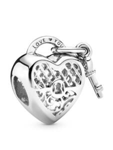 Charm -Herschloss mit Schlüssel- Pandora Silberfarben
