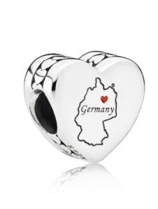 Charm -Herz- Deutschland Pandora Silberfarben