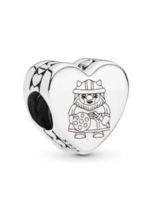 Charm -Herz- Wikinger Pandora Silberfarben