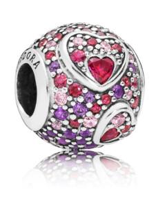 Charm -Herzen der Liebe- Pandora Multicolor