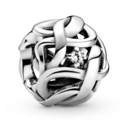 Charm Infinity aus Sterlingsilber mit Zirkonia