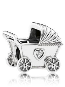 Charm -Kinderwagen- Pandora Weiß