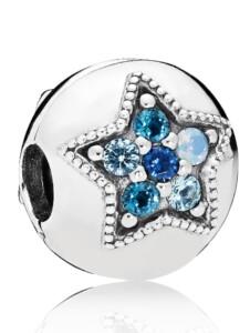 Charm -Leuchtender Stern- Pandora Blau