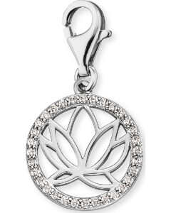 Charm Lotus aus Sterling Silber