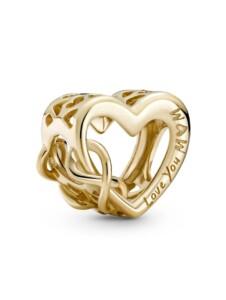 Charm -Love You Mum- 14K Gold Pandora Gelbgoldfarben