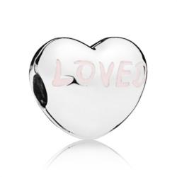 Charm Loved heart aus Sterlingsilber
