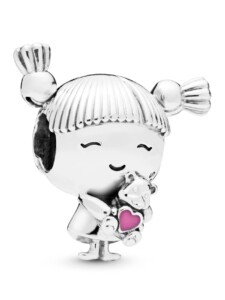 Charm -Mädchen mit Zöpfen- Pandora Silberfarben