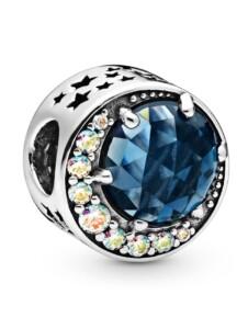 Charm -Mond & Nachthimmel- Pandora Silberfarben