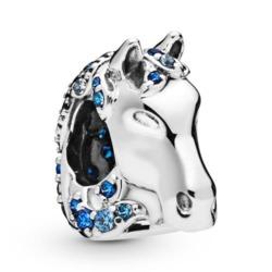 Charm Nokk Disney aus 925er Silber mit blauen Zirkonia