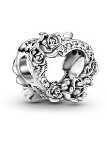 Charm -offenes Herz- Pandora Silberfarben