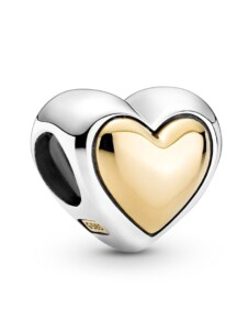 Charm – Gewölbtes goldenes Herz – Pandora Gelbgoldfarben