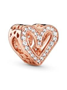 Charm – Funkelndes Freihand-Herz – Pandora Rosé