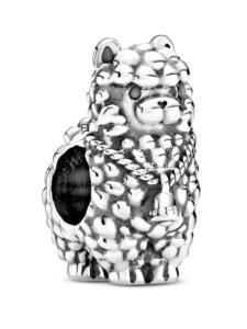 Charm – Flauschiges Lama – Pandora Silberfarben