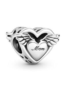 Charm – Engelsflügel & Mum – Pandora Silberfarben