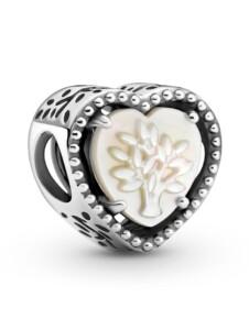 Charm – Durchbrochenes Herz & Stammbaum – Pandora Silberfarben