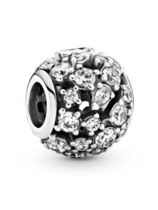 Charm – Funkelnd durchbrochen – Pandora Silberfarben