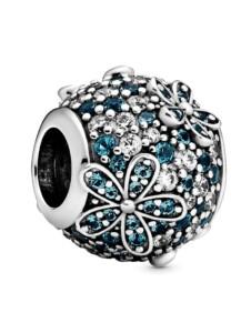 Charm-Pavé mit Gänseblümchen- Pandora Silberfarben