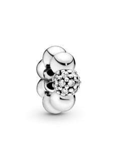 Charm -Pavé Perle- Pandora Silberfarben