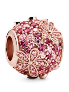 Charm -Pavé mit Gänseblümchen- Pandora Rosé