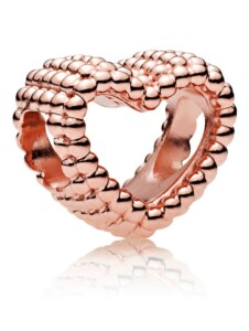 Charm – Offenes Metallperlen Herz – Pandora Rosé