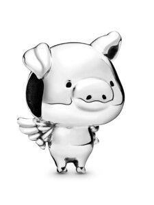 Charm -Pippo das fliegende Schwein- Pandora Silberfarben