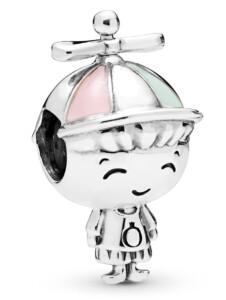 Charm -Propeller-Hut Junge- Pandora Silberfarben