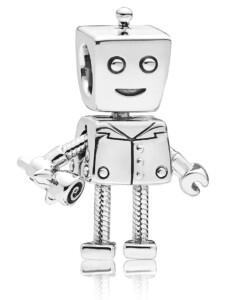 Charm -Roboter- Pandora Silberfarben