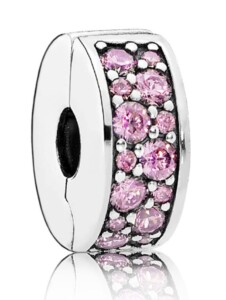 Charm -Rosafarbener Pavé- Pandora Rosé