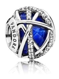 Charm Royalblaue Galaxie Pandora Blau