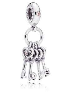 Charm -Schlüssel der Liebe- Pandora Silberfarben