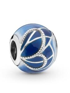 Charm – Blaue Schmetterlingsflügel – Pandora Blau