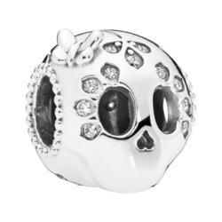 Charm Skull aus Sterlingsilber mit Zirkonia