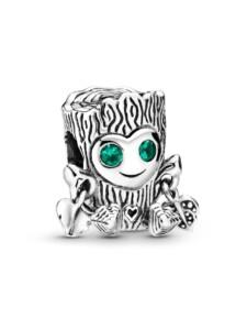 Charm -Süßes Baummonster- Pandora Silberfarben