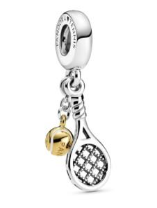Charm -Tennisschläger & Ball- Pandora Silberfarben