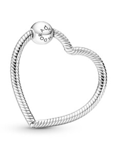 Charm-Träger – in Herzform – Pandora Silberfarben