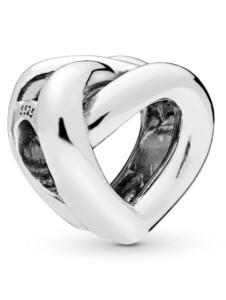 Charm -Verknotetes Herz- Pandora Silberfarben