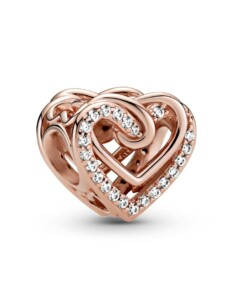 Charm -verschlungene Herzen- Pandora Rosé