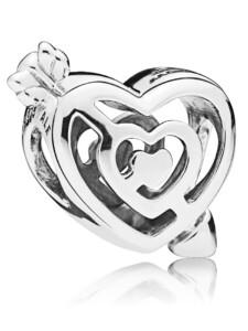 Charm -Weg zur Lieben- Pandora Silberfarben