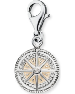 Charm Windrose aus Sterling Silber
